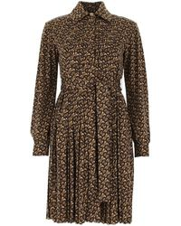 Burberry Monogram Print Dress - Brown