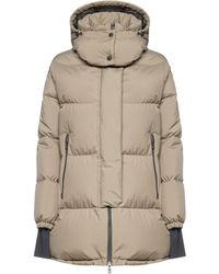 Herno Quilted Nylon Oversized Hooded Down Jacket - Natural