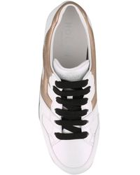 Hogan H222 Leather Trainers - White