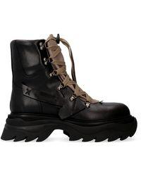 Off-White c/o Virgil Abloh Arrow Lace-up Boots - Black