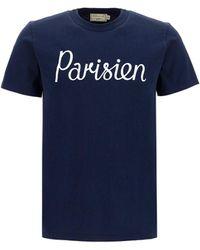 Maison Kitsuné Parisien Printed T-shirt - Blue