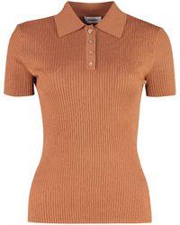 Nanushka Hatti Knitted Wool Polo Shirt - Multicolour