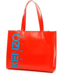 KENZO Small Shopper Bag - Red