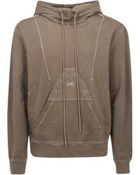 """Diesel Red Tag """"cold Wall"""" Cotton Sweatshirt With Hood - Brown"""