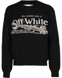 Off-White c/o Virgil Abloh Pascal Tool Intarsia Knit Jumper - Black