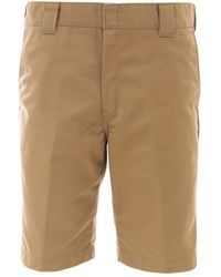 Carhartt WIP Rear Logo Patch Bermuda Shorts - Natural