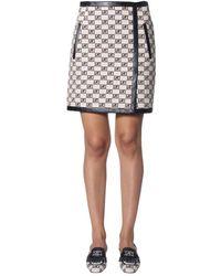 Alberta Ferretti - A-line Logo Skirt - Lyst