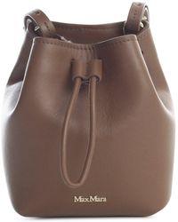 Max Mara Small Bucket Bag - Brown