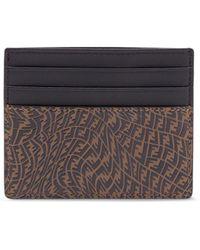 Fendi Ff-motif Cardholder - Brown