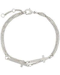 DSquared² Cross Bracelet - Metallic