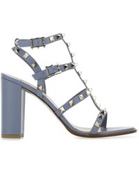 Valentino Valentino Garavani Garavani Rockstud Block Heel Sandals - Blue