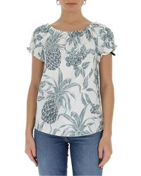 See By Chloé Spring Fruits Printed Top - Blue