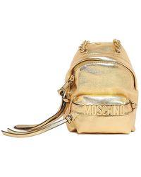 Moschino - Metallic Crossbody Mini Backpack - Lyst