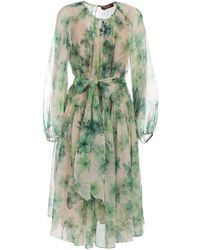 Max Mara Studio Vernice Floral Print Midi Dress - Green
