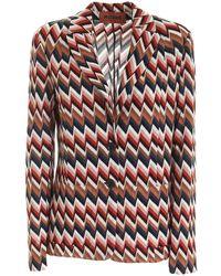 Missoni Zig-zag Patterned Jacket - Red
