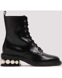 Nicholas Kirkwood Casati Combat Boots - Black