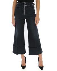Miu Miu Cropped Flared Jeans - Black