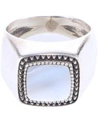 Emanuele Bicocchi Chevalier Square Ring - Metallic