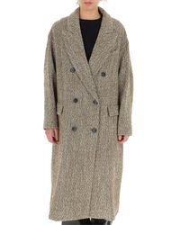 Étoile Isabel Marant Oversize Double-breasted Coat - Multicolor