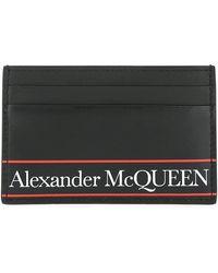 Alexander McQueen Tape Logo Card Holder - Black