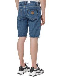 Carhartt WIP Denim Knee-length Shorts - Blue
