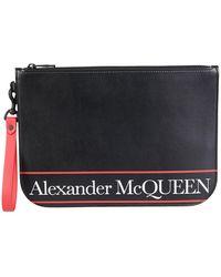 Alexander McQueen Logo Clutch Bag - Black