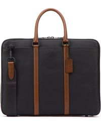 COACH Harness Metropolitan Slim Briefcase - Black