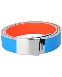 Comme des Garçons Super Fluo Reversible Belt - Blue