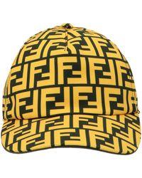Fendi Ff Motif Baseball Cap - Yellow