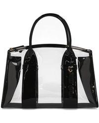 Miu Miu Transparent Tote Bag - Black