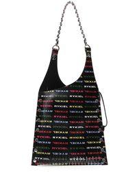 Sonia Rykiel Logo Printed Slashed Tote Bag - Black