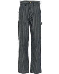 Aries X Lee Striped Straight-leg Jeans - Blue