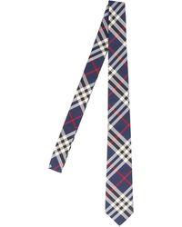 Burberry Classic Cut Vintage Check Tie - Blue