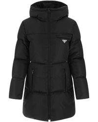 Prada Black Re-nylon Down Jacket Nd