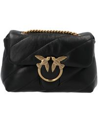 Pinko Love Mini Puff Quilted Shoulder Bag - Black