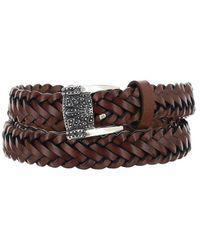 Etro Buckled Braided Belt - Brown