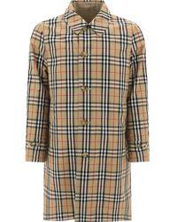 Burberry Vintage Check Reversible Raincoat - Natural