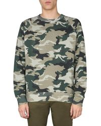 Balmain Camouflage Print Sweatshirt - Green