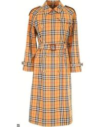 Burberry - Vintage Check Belted Trench Coat - Lyst