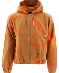 "Stussy ""printed Canvas"" Jacket - Orange"