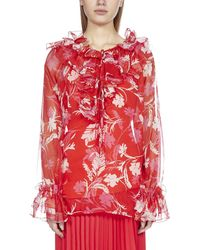 P.A.R.O.S.H. Ruffled Blouse - Red