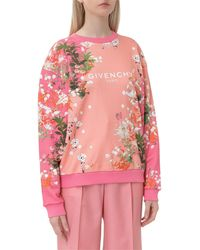 Givenchy Floral Printed Jumper - Pink