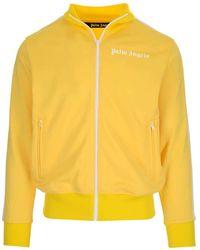 Palm Angels Logo Printed Track Jacket - Yellow