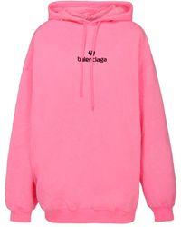Balenciaga Sponsor Logo Hoodie - Pink