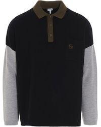 Loewe Polo Collar Sweater - Black