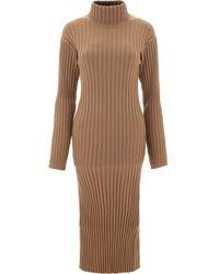 KENZO Ribbed Knit Dress - Brown