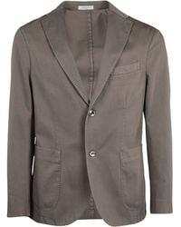 Boglioli Single-breasted Tailored Blazer - Natural