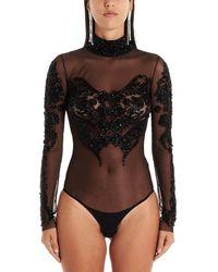 Amen Black Polyamide Bodysuit