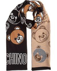 Moschino Women's Wool Scarf Teddy - Black