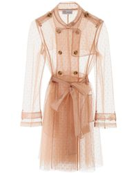 RED Valentino Point D'esprit Trench Coat - Pink